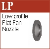 Low profile flat fan nozzle